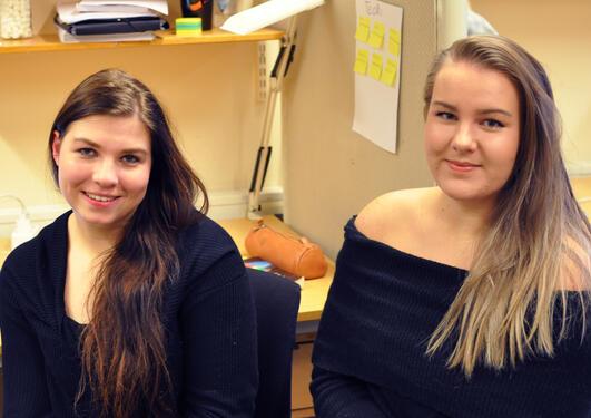 Elisabeth Wiken og Kristina Tystad Larsen.