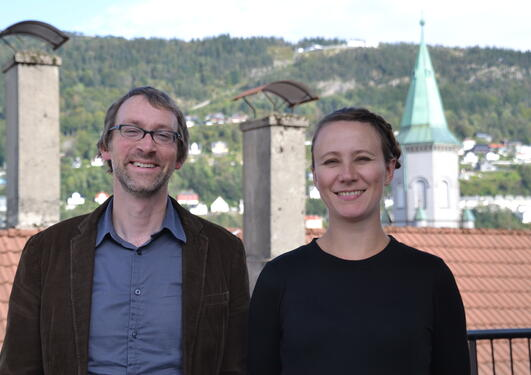Aaron Spitzer og Elin Monstad