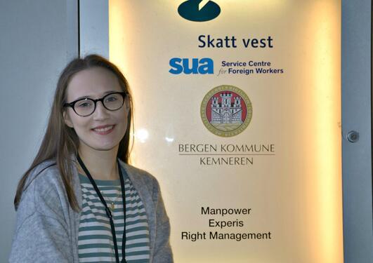 Praksisstudent Mari K. Lyngvær hos Skatt Vest