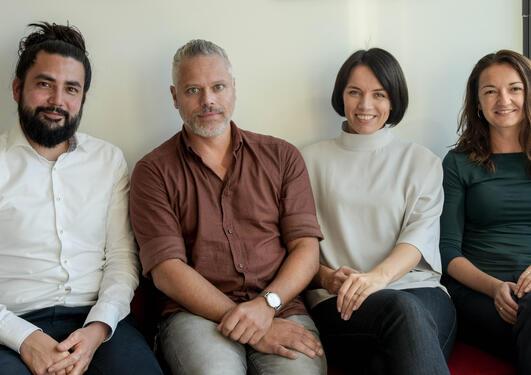 Yves Aubert, Michael Marie, Ramune Midttveit og Amra Grudic-Feta