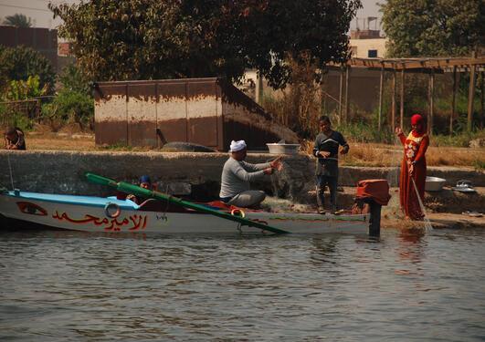 Fiske langs Nilen