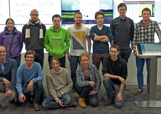 Group picture during visit at ECMWF