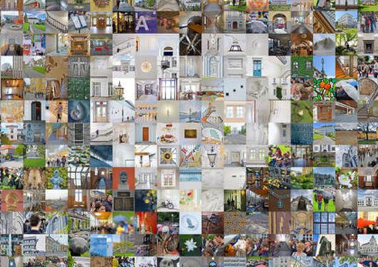 Mosaikk av UiB bygg