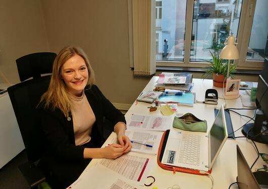 Praksisstudent Eivor Kolberg ved UiBs Brusselkontor