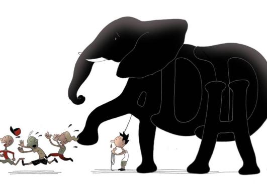 Elefant illustrasjon fra BT