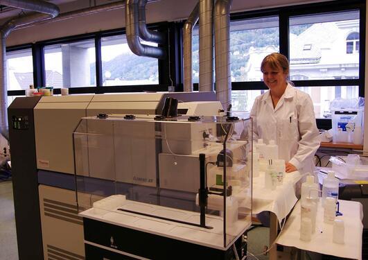 ICP instrument med Siv som jobber