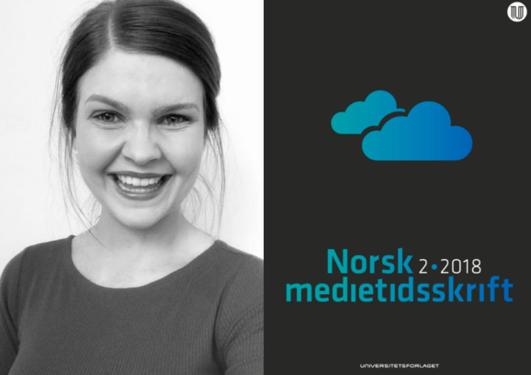 Elisabeth Urdal og forside Norsk Medietidsskrift