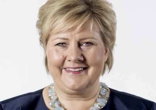 Portrett av statsminister Erna Solberg