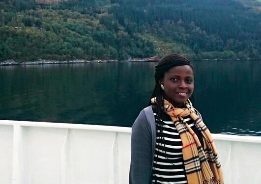 Master student Ernestina Ohenwaah Denchie.
