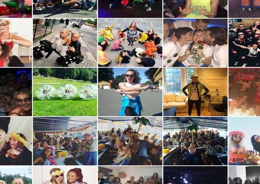 collage av bilder fra fadderuken