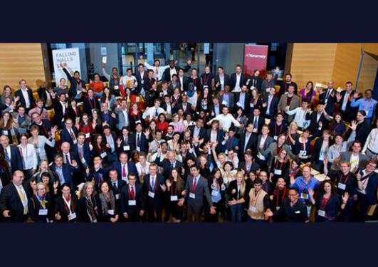 Group photo of all the young Falling Walls Lab contestants 2014