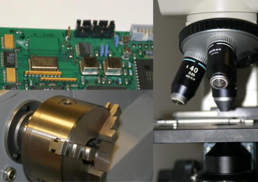Bilde av elektroniske og mekaniske komponenter