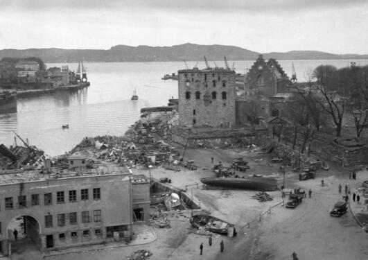 Krig eksplosjon Bryggen