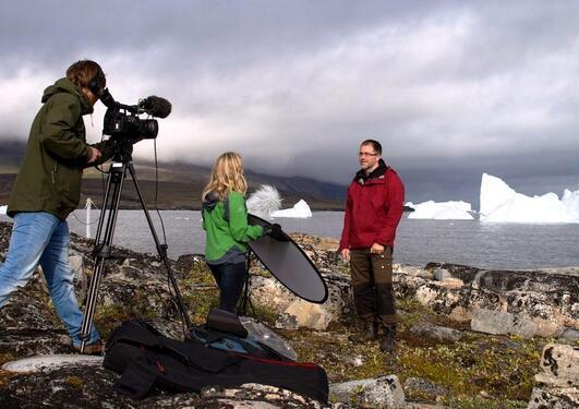 Frå filming av MOOC på Grønland