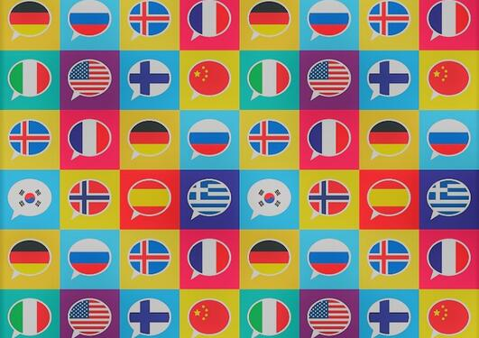 Talking bubbels with different flags ionside
