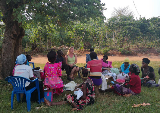 group discussion in Buikwe, Uganda
