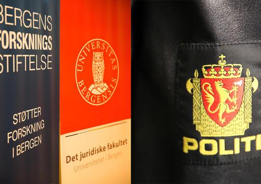 Logo til Bergen forskningsstiftelse, Det juridiske fakultet og politiet