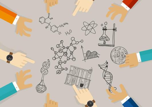 Illustrasjon forskningssamarbeid