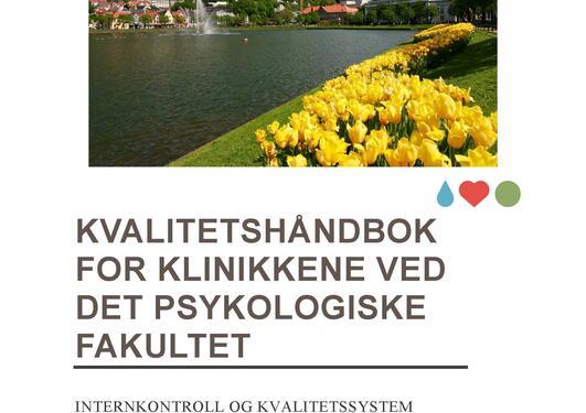 Bilde av forside av kvalitetshåndbok for klinikkene ved Det psykologiske fakultet