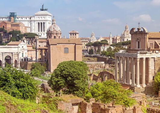 Utsnitt av Forum Romanum