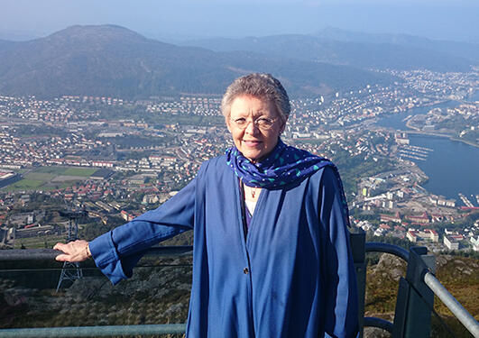 Nobelsprisvinnar Françoise Barré-Sinoussi var Falch-førelesar i 2014