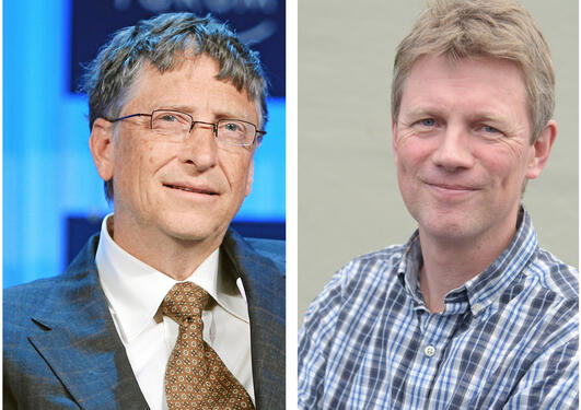 Bill Gates and Ole Frithjof Norheim