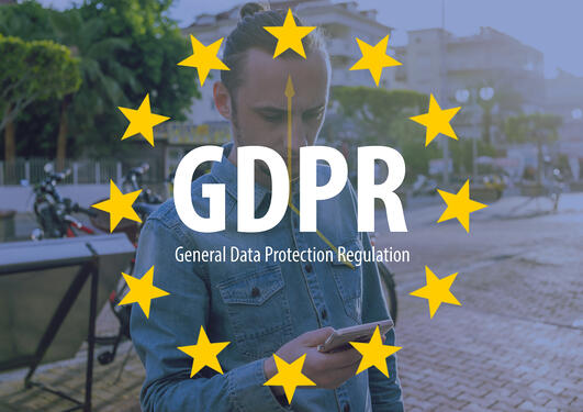 man with mobile phone gdpr