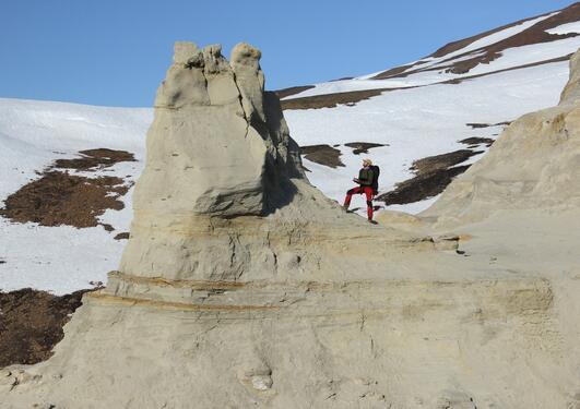 Gijs på Svalbard