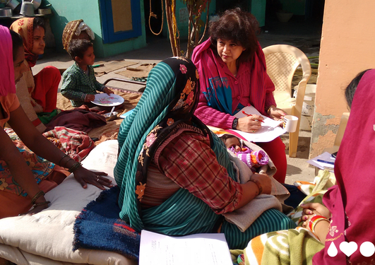 Researchers from The Centre for Intervention Science in Maternal and Child Health in the field