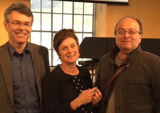 Samfunnsviterne Ståle Knudsen, Siri Gloppen og Hakan G. Sicakkan under lanseringen av Universitetet i Bergen sitt satsingsområdet globale samfunnsutfordringer 15. mai 2017.