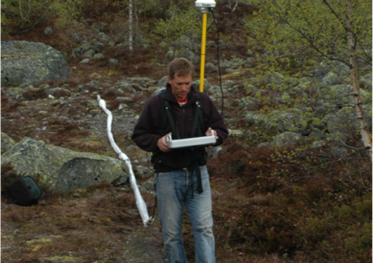 Malå GPR with rough terrain antenna (RTA)