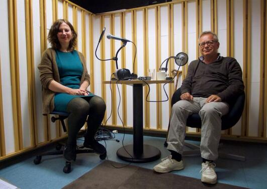 Jostein Gripsrud i samtale med Hilde Kvalvaag.
