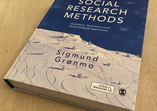 Picture of Grønmo's new book