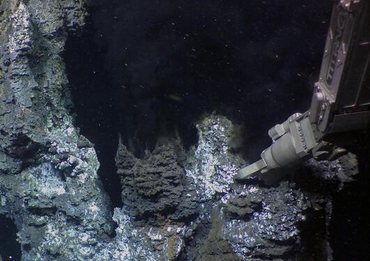 Utforskning av sulfidavsetninger rundt varme kilder.