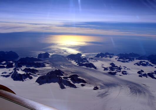 NASA observes effects of summer melt on Greenland ice sheet in this photo from 2016.