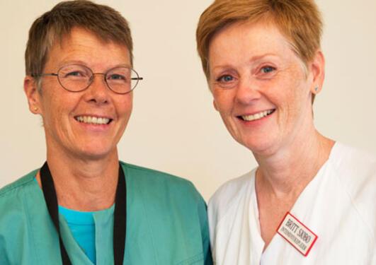 Photo of Anne Berit Guttormsen and Brit Sjøbø