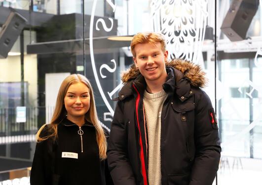 Hedda Borge og Håvard Sjursen kommer begge til å søke på ett av MCB-programmene ved søknadsfristen i april