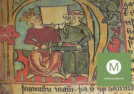 Håkon Håkonsson og sønnen Magnus portrettert i manuskriptet Flateyjarbok.