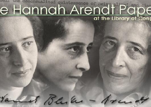 Bilde som viser Arendt som ung, middelaldrende og eldre