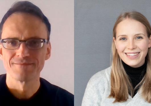 Hans Steinslad og Cora Møller Jensen UiB idé