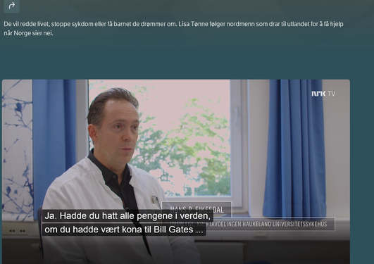 Skjermdump NRK TV