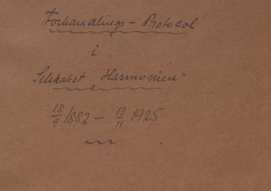 Bilde av protokolle for harmonien