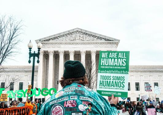protest outside of supreme court in the USA