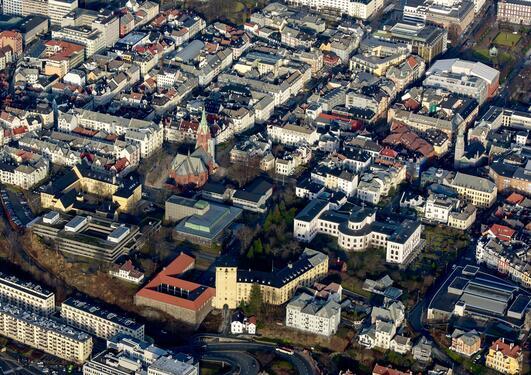 Air view UiB, Sydneshaugen