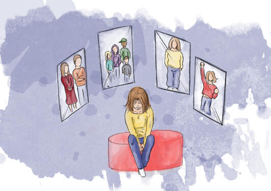 Illustrasjon av temaet skam