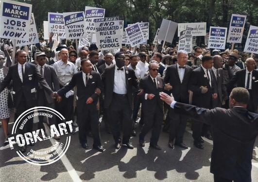 Civil rights' march, Washington DC.