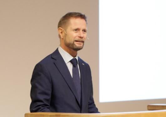 Bildet viser helseminister Bent Høie