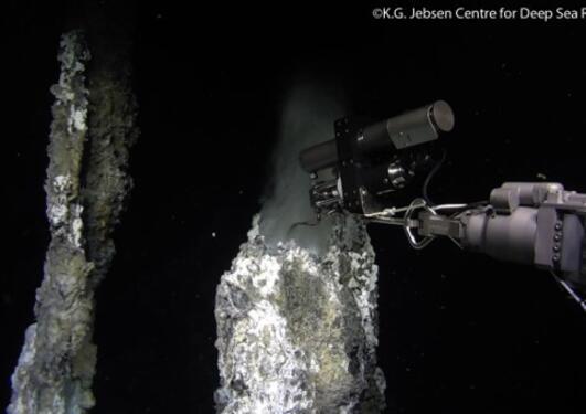Bilde av hotspot på havbunnen i midtatlanteren