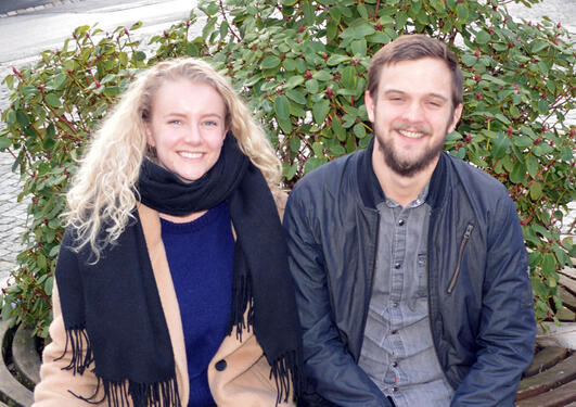 Lauritz og Eline, antropologistudenter
