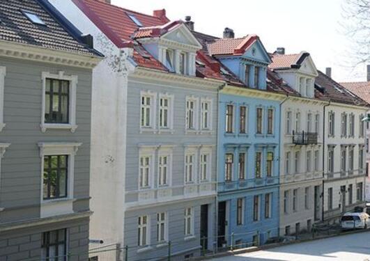 Houses in a street of Bergen